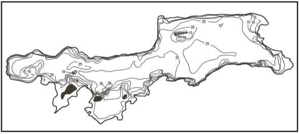 Oscawana bathymetric map