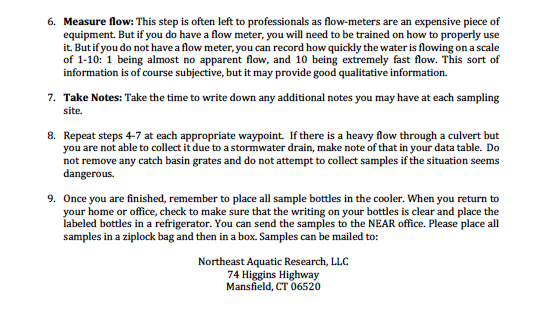 Stormwater Sampling guidelines pg 3